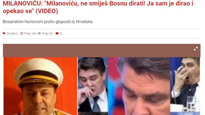"""Poruku """"Tuđmana"""" HR predsjedniku Milanoviću, prenijeli su brojni mediji…"""